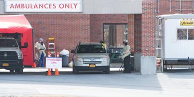 Glens Falls Hospital outdoor screening