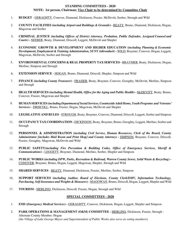 Warren County committee list