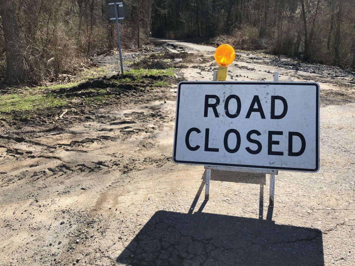 Fort Edward road closed