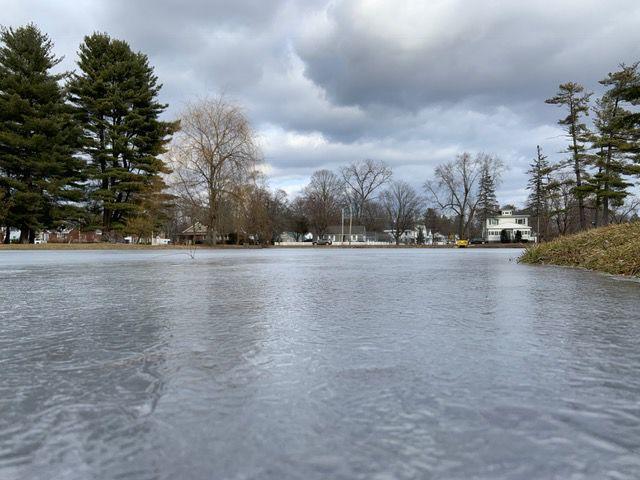 Crandall Pond ice
