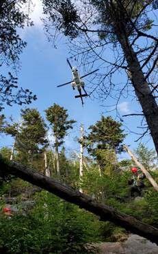 Crane mountain rescue