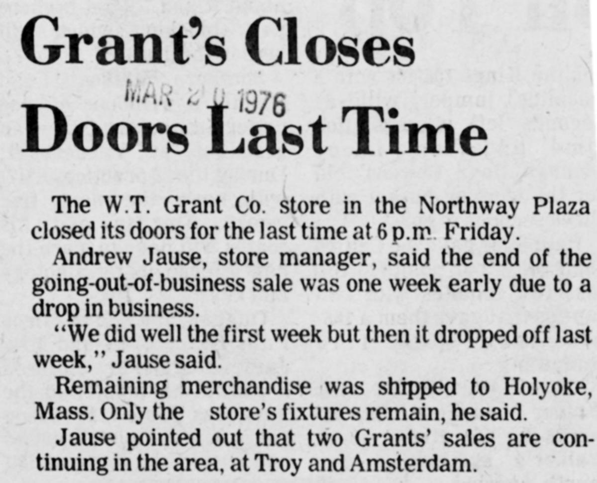 As retail undergoes change, former Grant department store