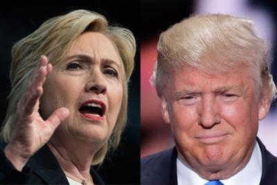 Clinton and Trump