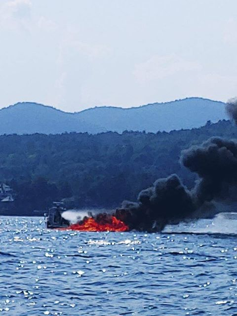 Lake George boat fire