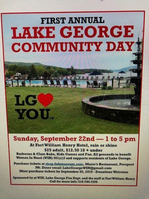 Lake George Community Day flier