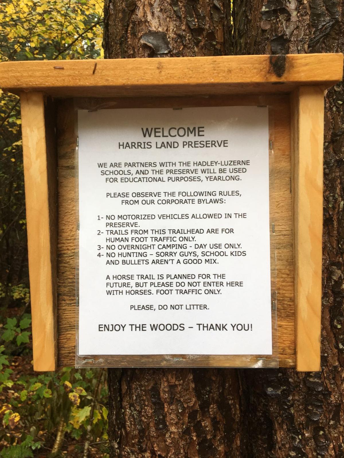 Harris Preserve sign