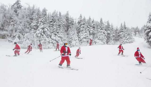 Santa's ski or ride free