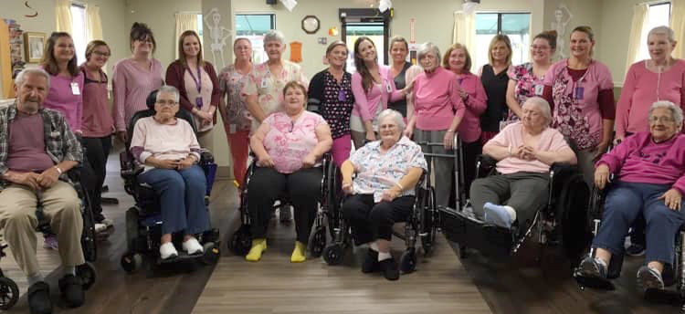 Nursing home supports breast cancer