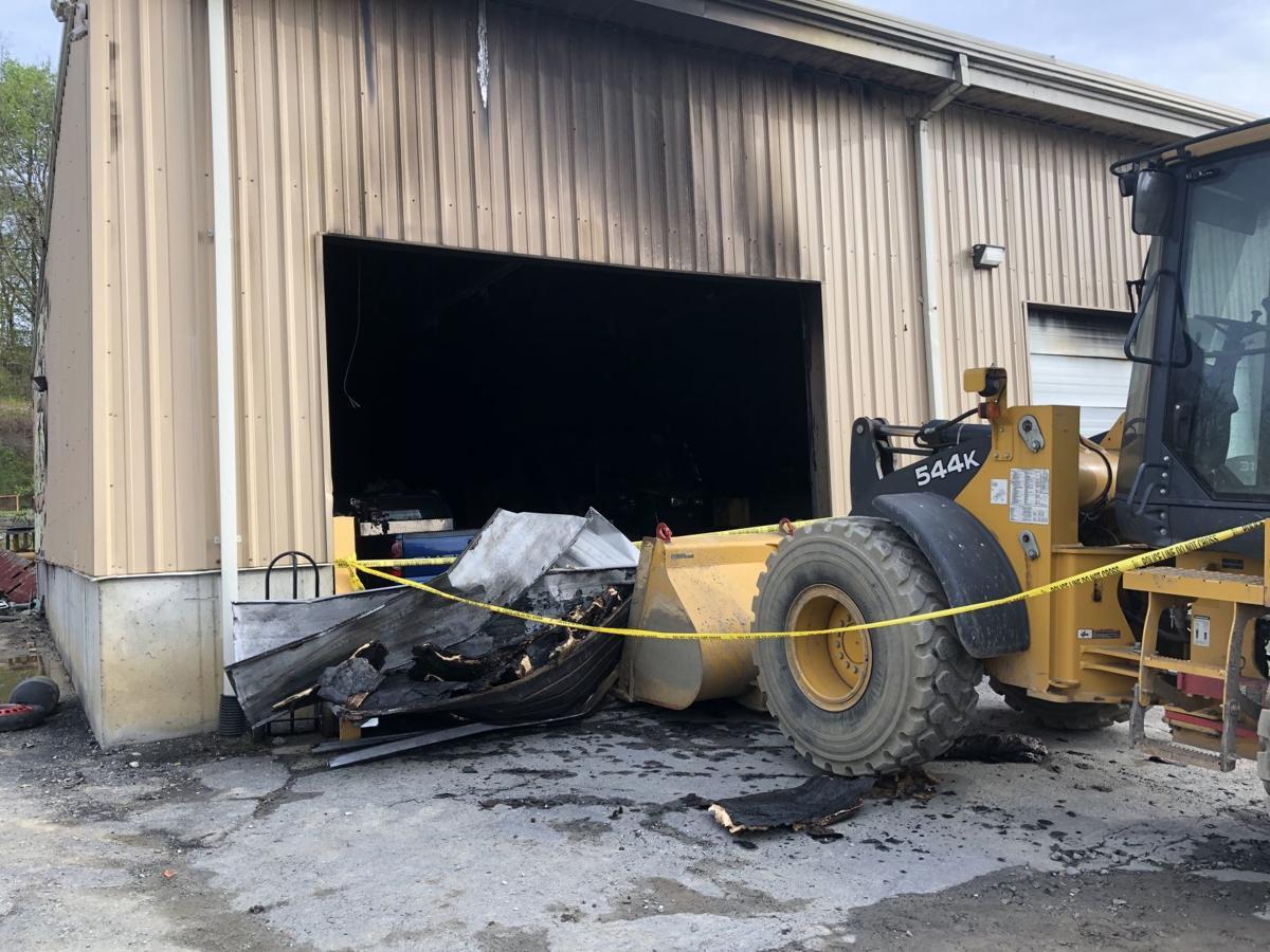Fort Edward highway garage fire