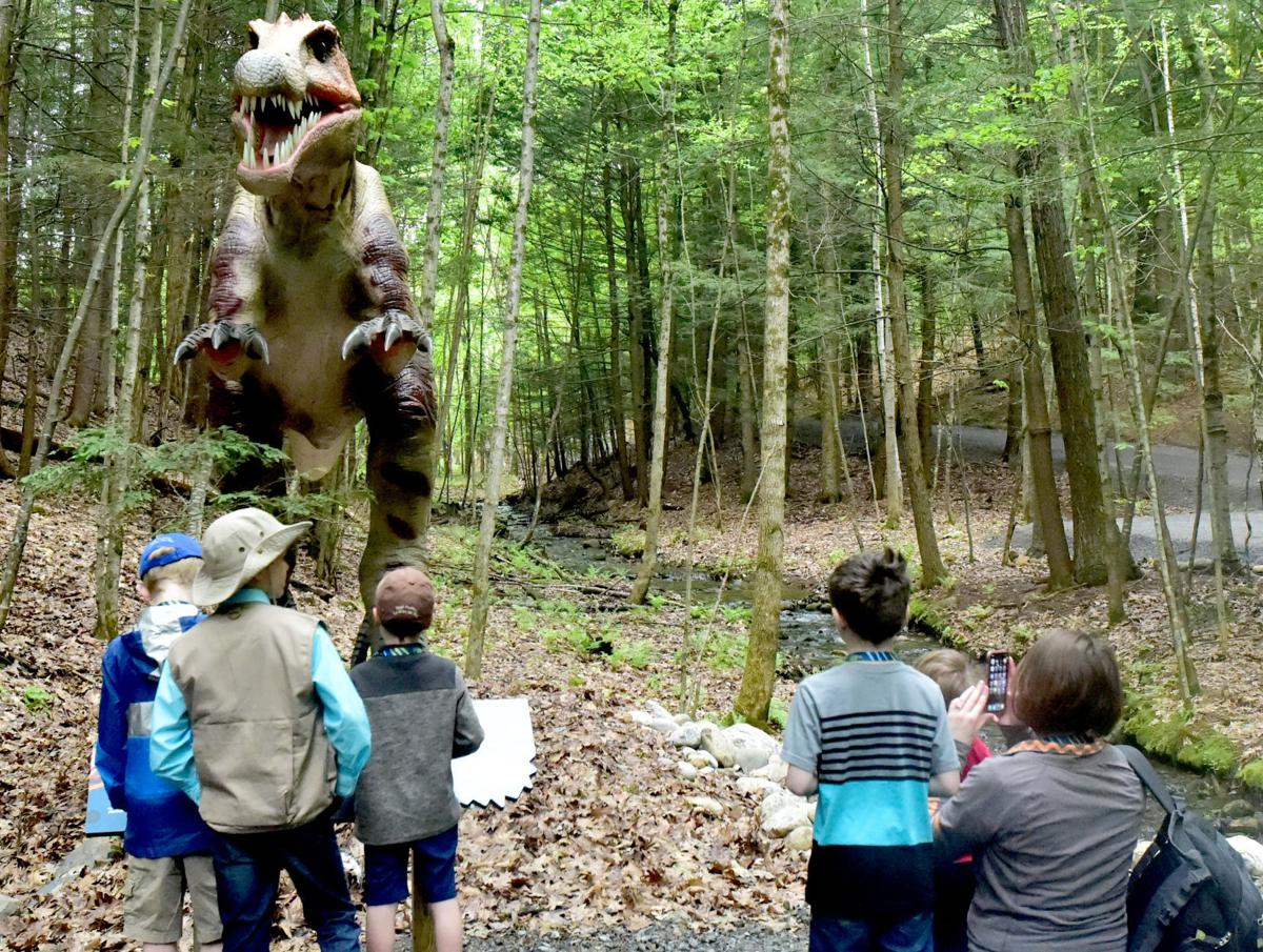 It was moving!': Dino Roar Valley opens to children's awe