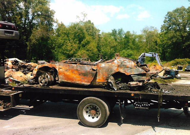 Burned Bentley