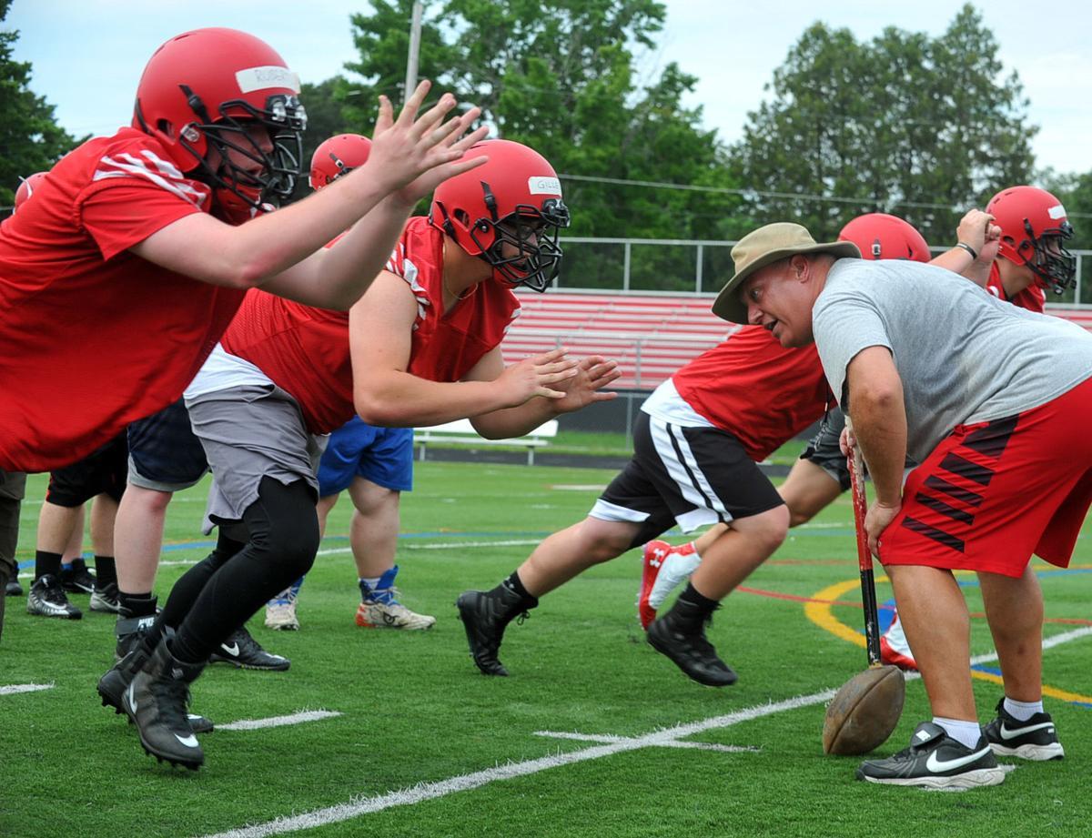 Glens Falls football practice