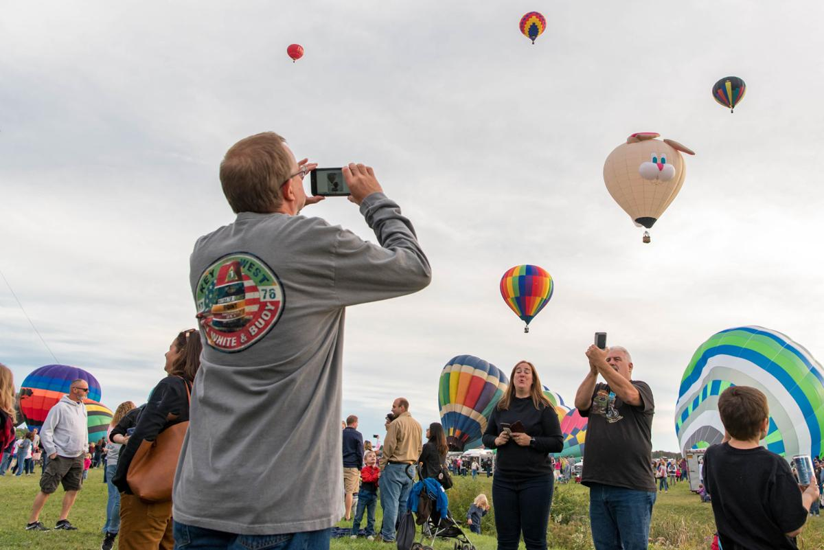 Adirondack Balloon Festival Saturday evening