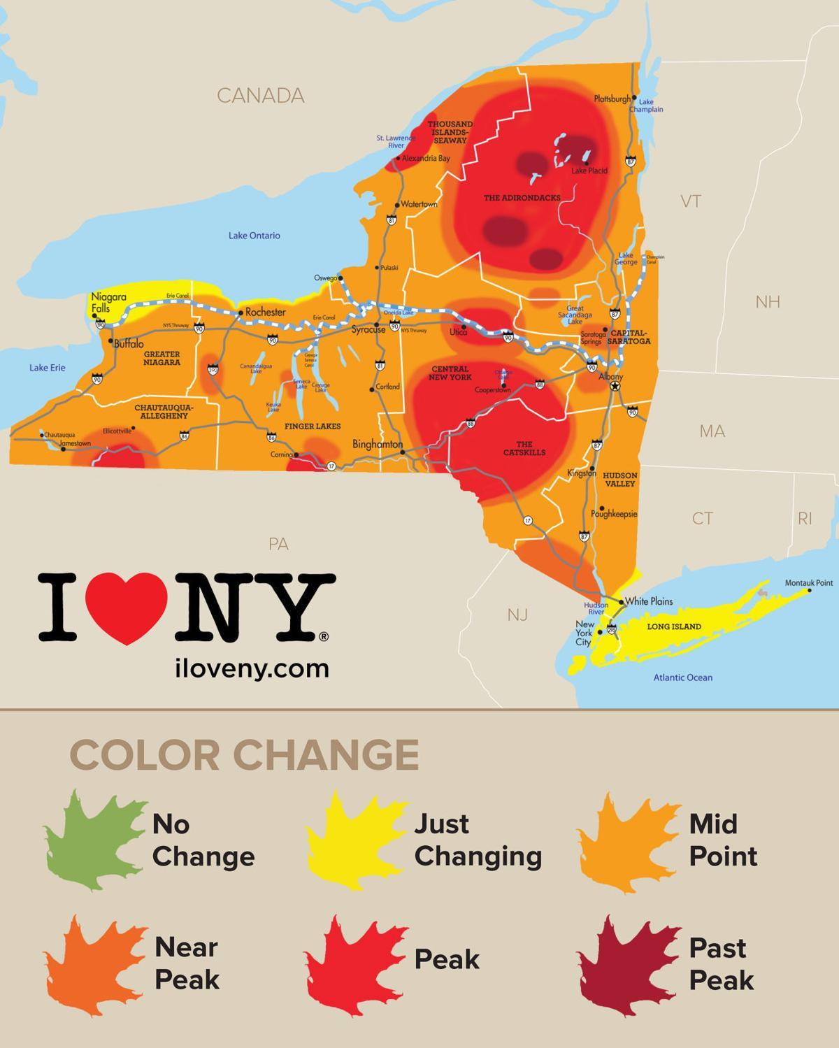Foliage map Oct. 11 to 17