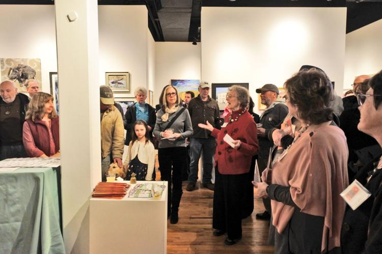 "Crowds at the 2017 juried show ""Visions"""