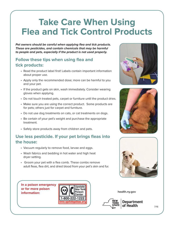 Flea and tick product precautions