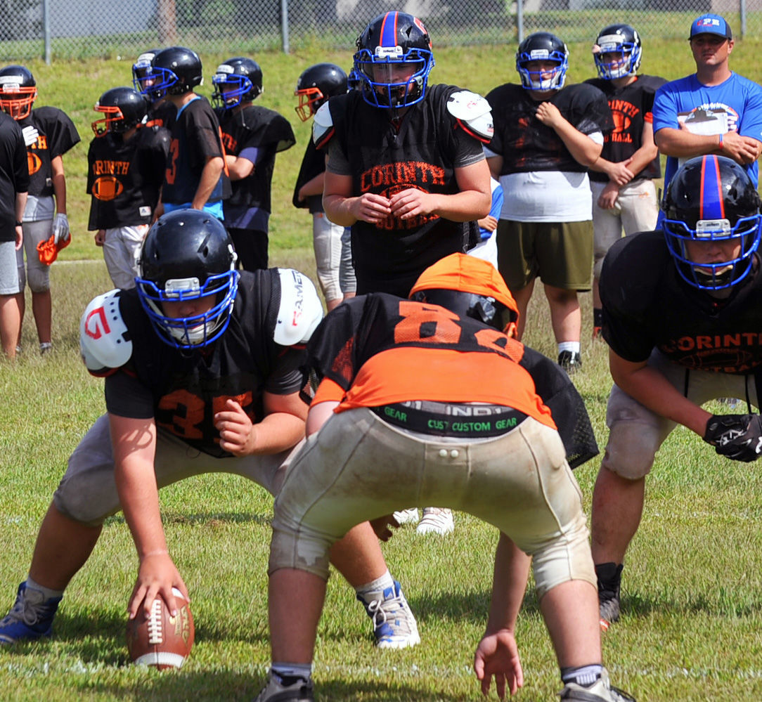 Corinth-Fort Edward football practice