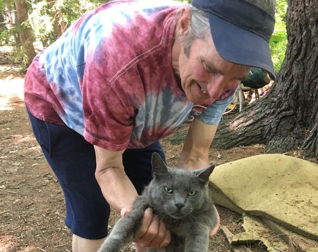 Greg Burdo and his main cat