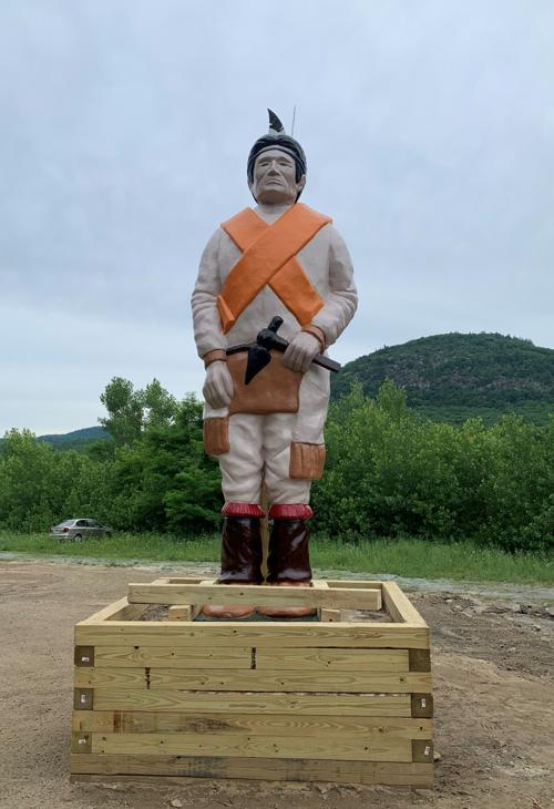 New Indian statue in Lake George