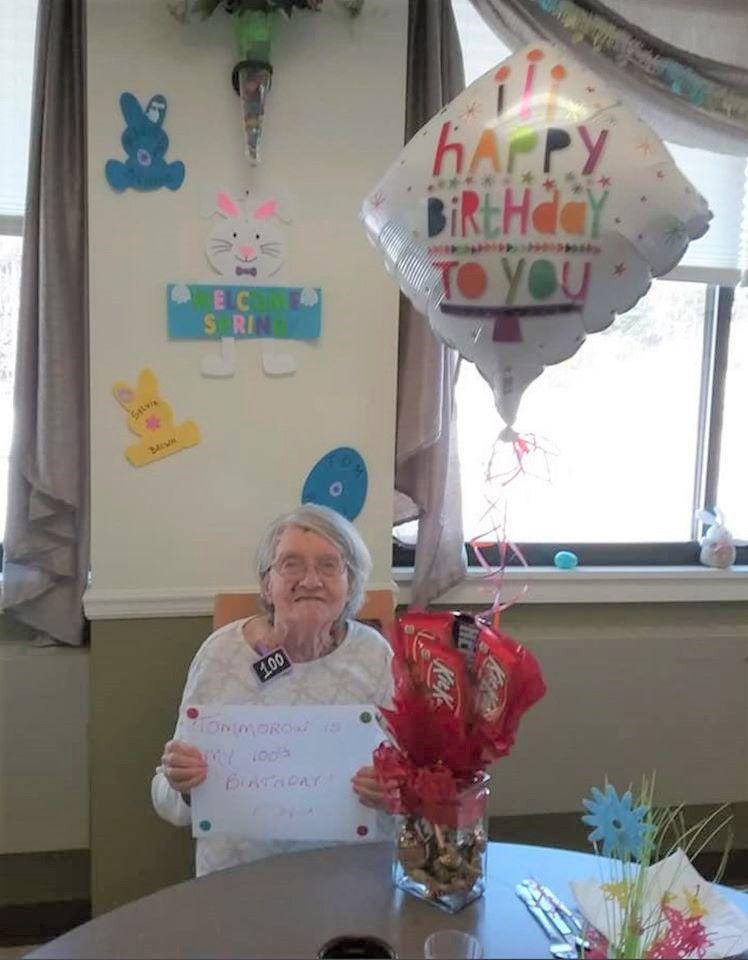 Adult home resident hits milestone birthday