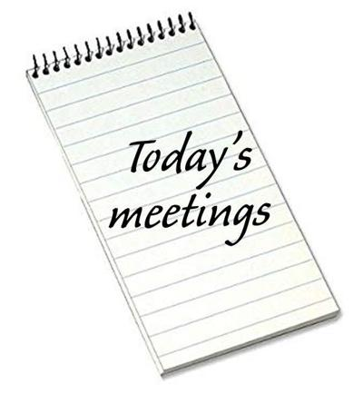 Today's meetings image