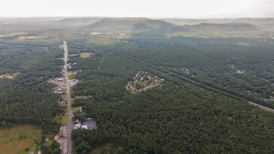 Aerial view of Route 9 looking south in Moreau