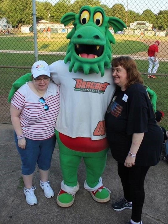 Center residents attend Dragons game