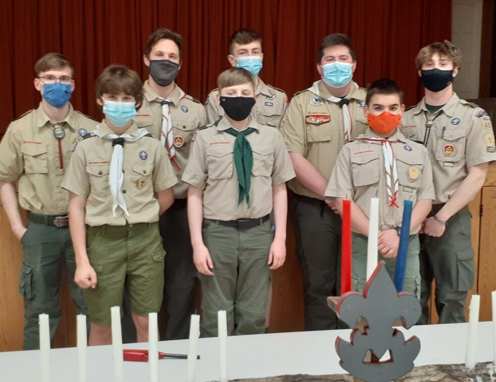 Boy Scout Troop 48 holds advancement ceremony, names new youth leadership