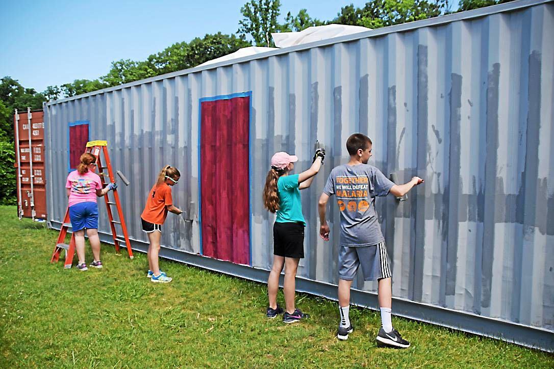 Hopewell United Methodist Church members convert shipping container into a community center