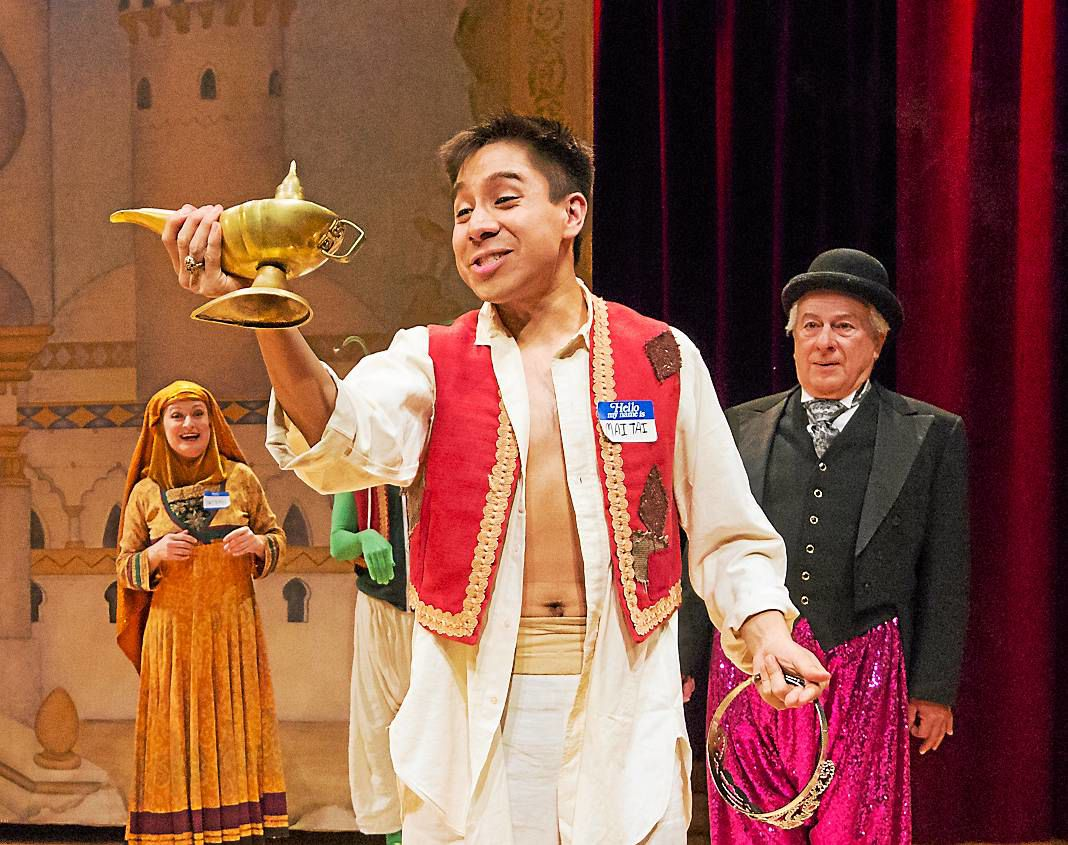 REVIEW: An 'excellent cast' delivers the fun in 'Aladdin: A Musical Panto' at People's Light in Malvern