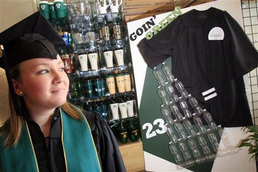 Green graduation: Gowns now recycle or biodegrade