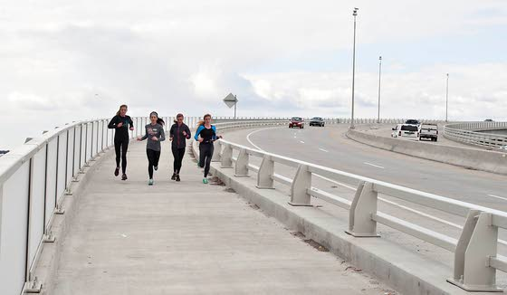 Pedestrian/bike path open for length of Route 52 Causeway