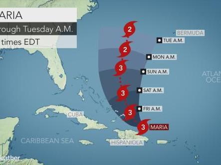Atlantic hurricanes keep summerlike feel flowing over area