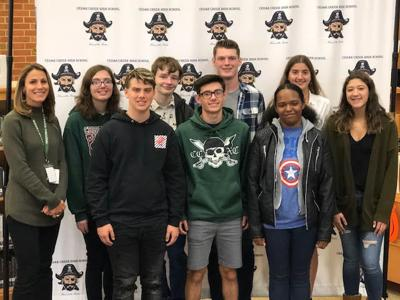 Cedar Creek students of the month october 2019