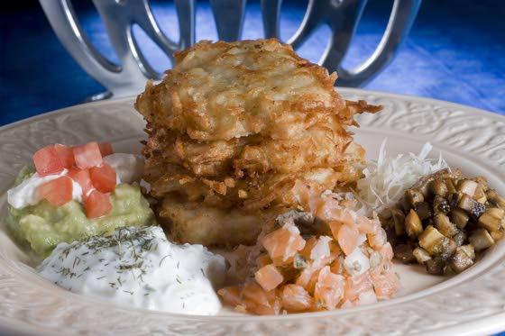 For Hanukkah, make one latke, but many toppings
