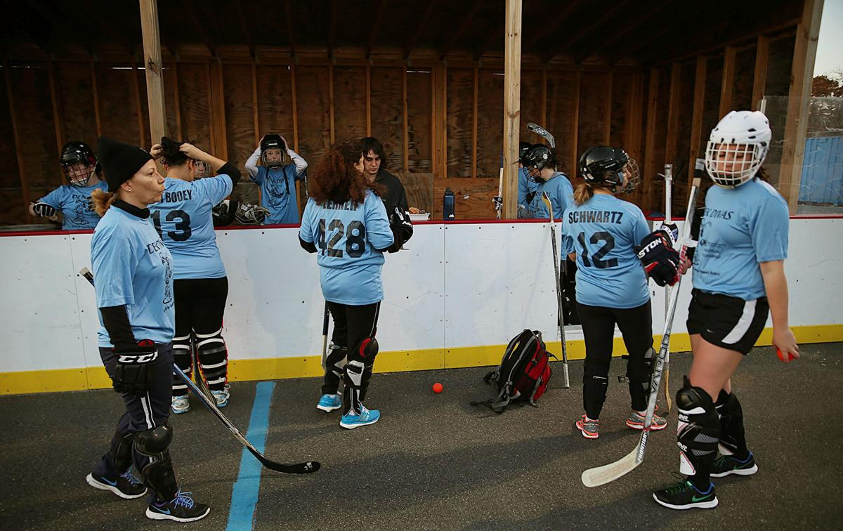 Women's Street Hockey League participants enjoy competition
