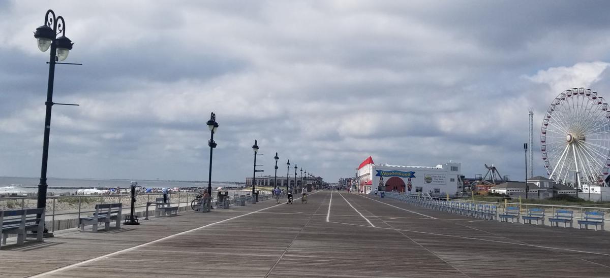 Ocean City Boardwalk Mostly Cloudy