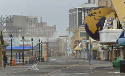 Atlantic City Boardwalk Sandy