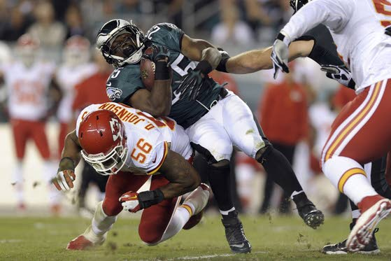 Eagles defensive end Vinny Curry, a New Jersey native, makes debut vs. Chiefs