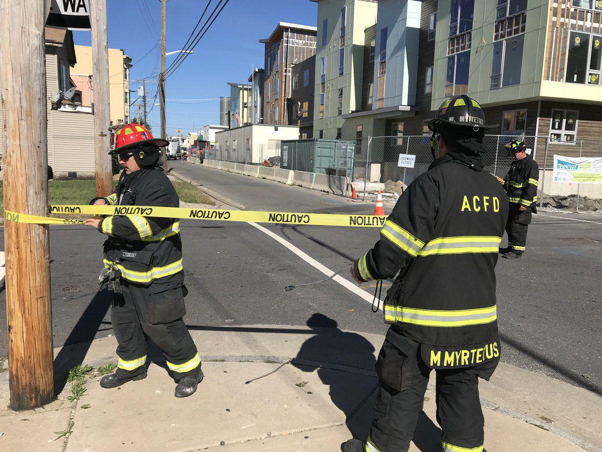 Firefighters respond to gas leak in Atlantic City