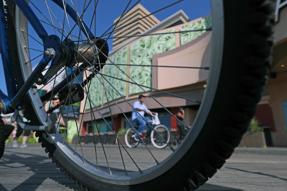 Bicyclists on Boardwalk