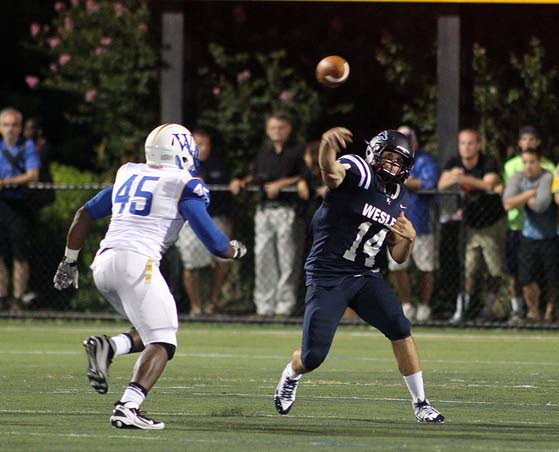Spirit graduate Callahan off to record start as Wesley QB