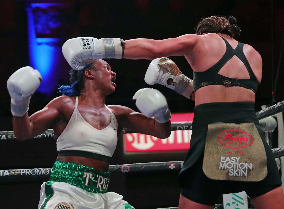 Undisputed World Middleweight Champion Claressa Shields defeats Christina Hammer