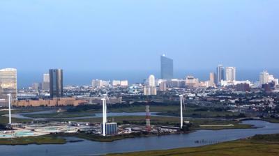 Aerial Atlantic City Skyline