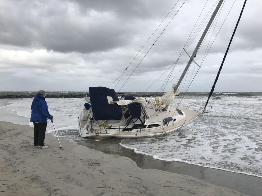 Stuck Sailboat May Remain On Ac Beach Until Sunday News