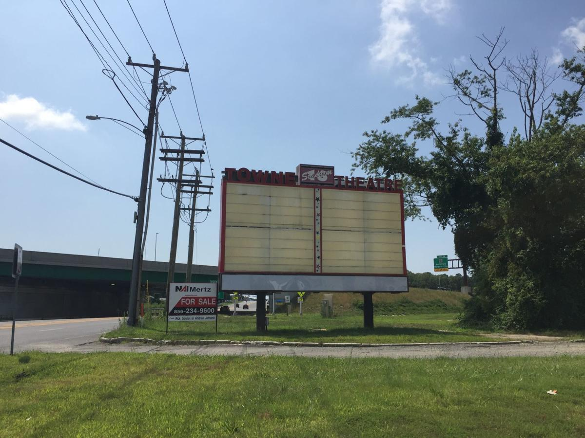 For sale sign at former Towne 16 theater Saturday, July 27, 2019
