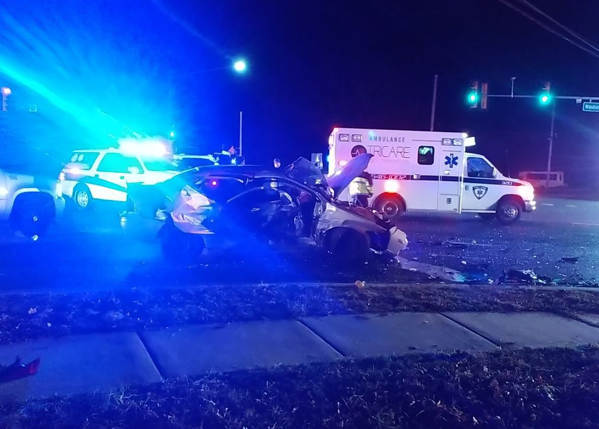 Accident at Washington Avenue and Fire Road