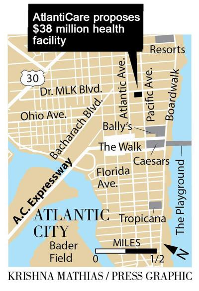 Atlanticare proposal in Atlantic City Pacific Ave. map