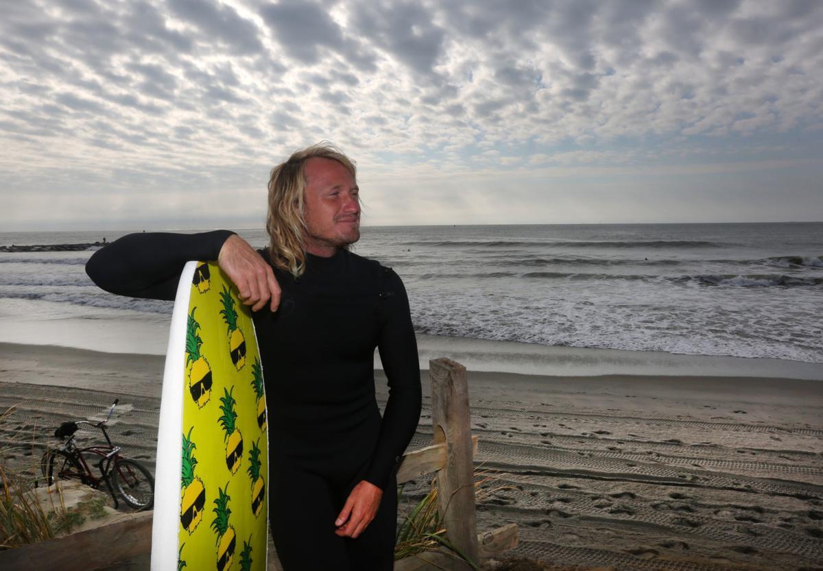 Ben Gravy surfs Atlantic City