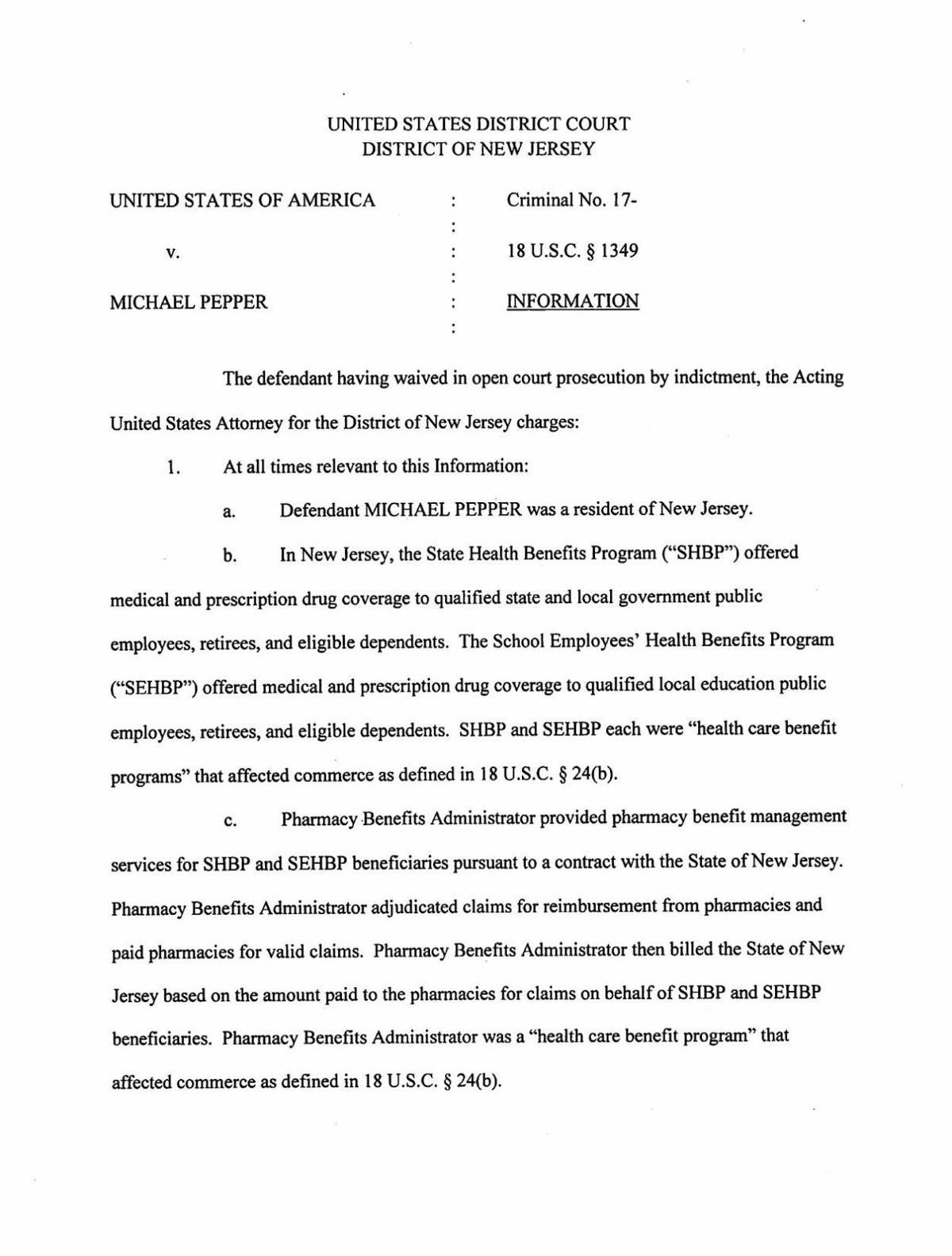 Michael Pepper court documents